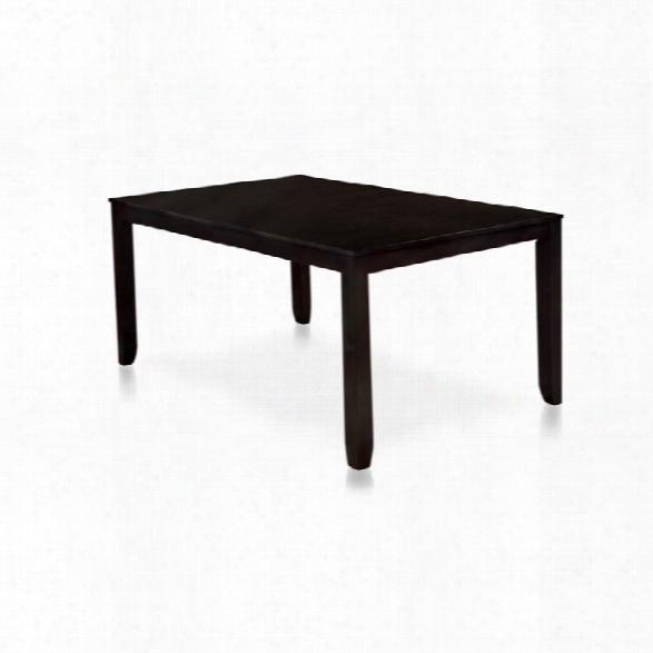 Furniture Of America Hannon Dining Table In Espresso