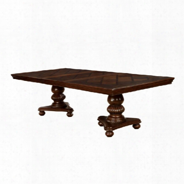 Furniture Of America Harriett Dining Table In Brown Cherry