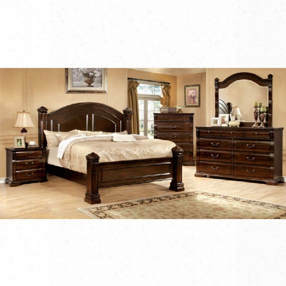 Furniture Of America Oulette 4 Piece California King Bedroom Set