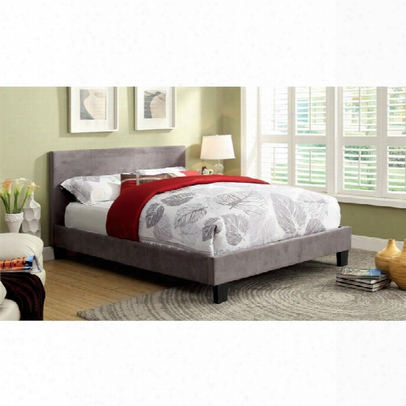 Furniture Of America Ramone King Upholstered Panel Bed In Gray
