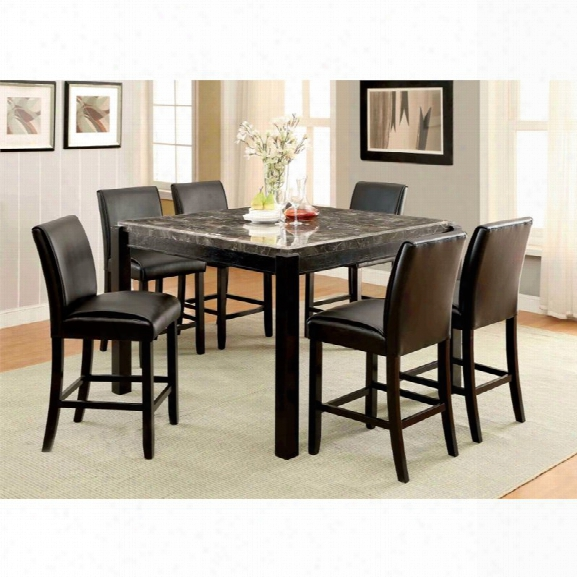 Furniture Of America Ramsy Counter Height Dining Table In Black