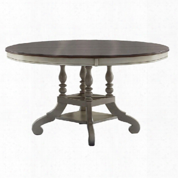 Hillsdale Pine Island 54 Round Dining Table In Old White