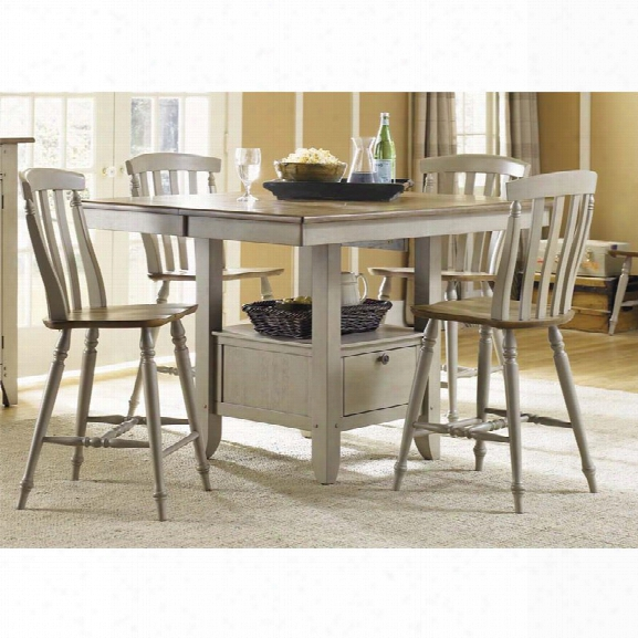 Liberty Furniture Al Fresco Counter Height Dining Table In Driftwood
