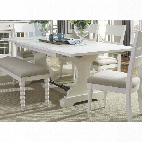 Liberty Furniture Harbor View Ii Trestle Dining Table In Linen