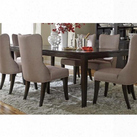 Liberty Furniture Platinum Dining Table In Satin Espresso
