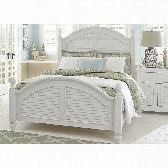 Liberty Furniture Summer House I King Poster Bed In Oyster White