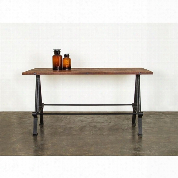 Nuevo Kosen Counter Height Dining Table In Burnt Umber