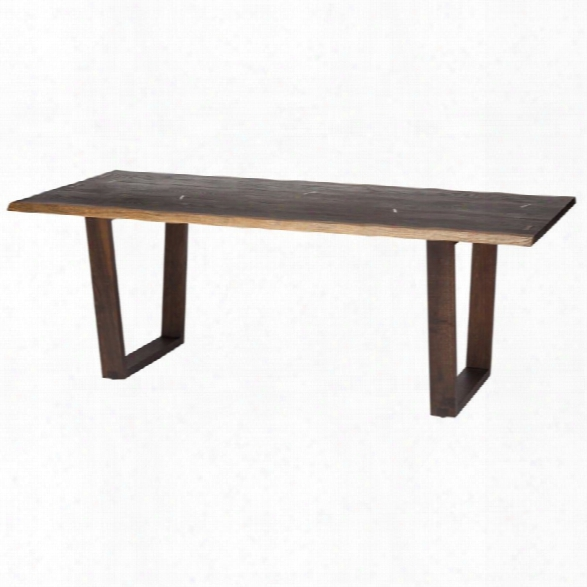 Nuevo Napa 78 Dining Table In Seared Brown