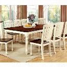 Furniture of America Gossling Extendable Dining Table in White