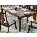 Furniture of America Kamella Traditional Dining Table in Brown Cherry