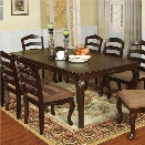Furniture of America Pienne Carved 78 Dining Table in Dark Walnut