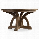 Hooker Furniture Corsica Round Extendable Dining Table in Light Wood