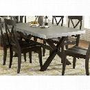 Liberty Furniture Keaton II Trestle Dining Table in Charcoal