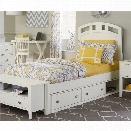 NE Kids Pulse Full Storage Bed in White