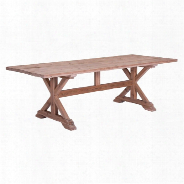 Zuo Alliance Dining Table In Natural Fir