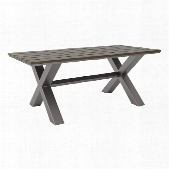 Zuo Bodega Dining Table In Industrial Gray And Brown