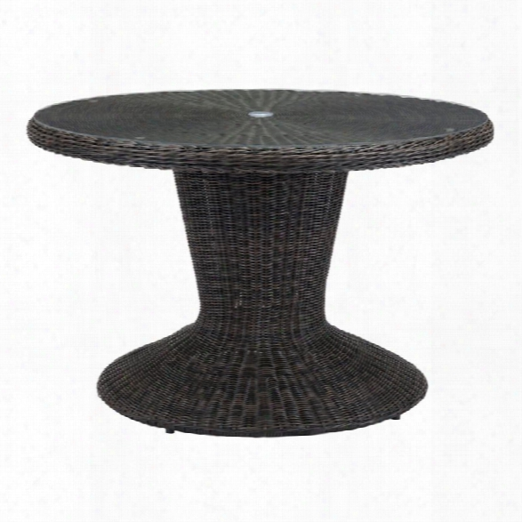 Zuo Noe Round Dining Table In Brown