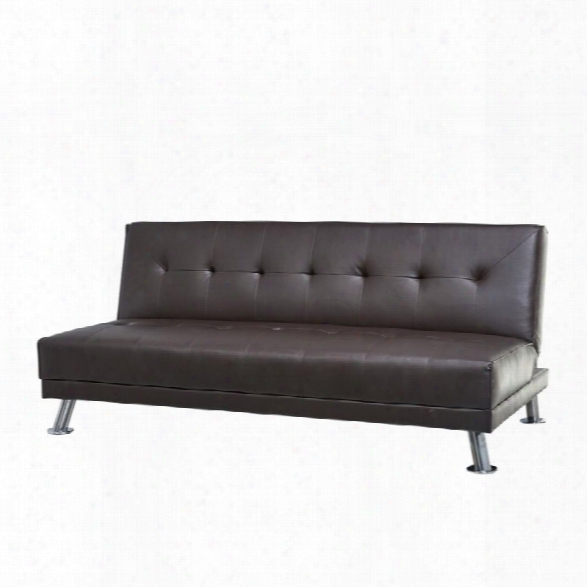 Abbyson Living Sheila Bonded Leather Convertible Sleeper Sofa In Dark Brown