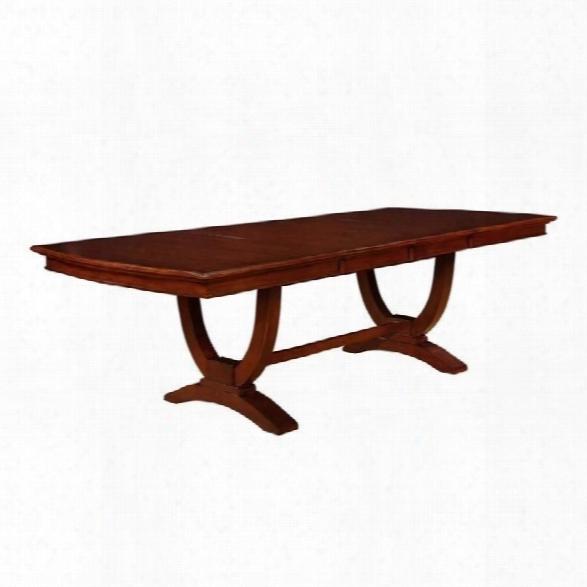Coaster Alyssa Dining Table In Dark Cognac