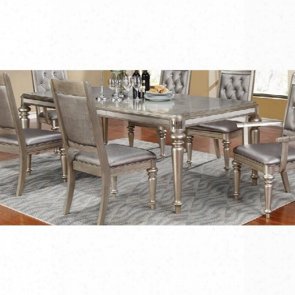 Coaster Danette Dining Table In Metallic Platinum