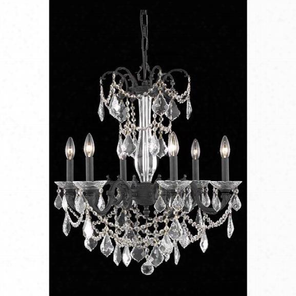 Elegant Lighting Athena 23 6 Light Spectra Crystal Chandelier