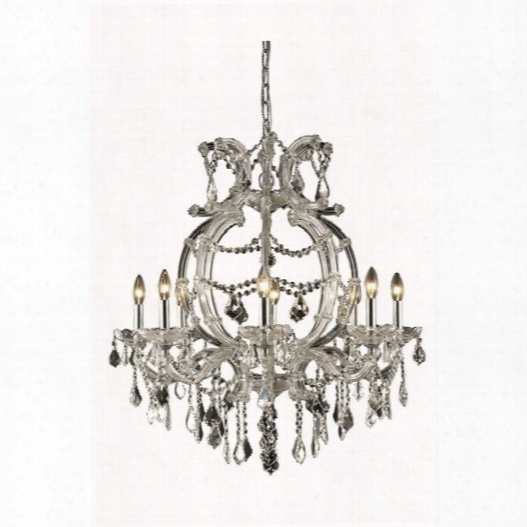 Elegant Lighting Maria Theresa 29 8 Light Spectra Crystal Chandelier