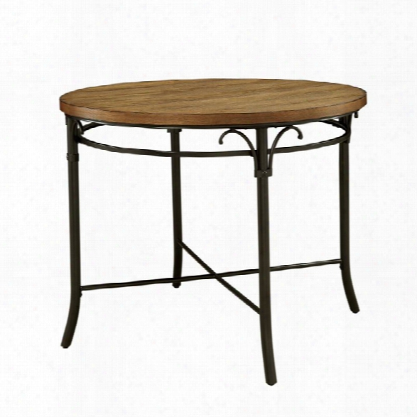Furniture Of America Kingsley Counter Height Round Dining Table