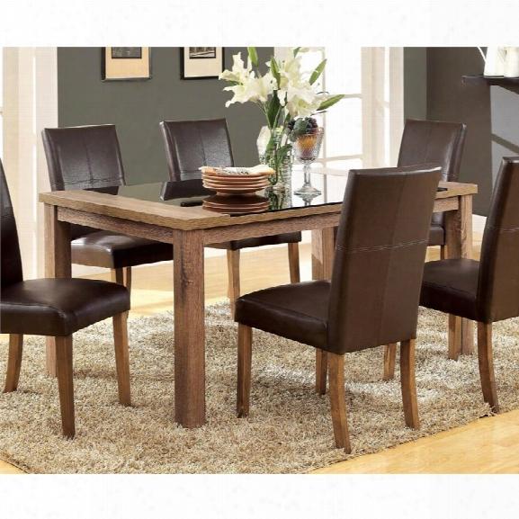 Furniture Of America Kiracha Dining Table In Light Oak