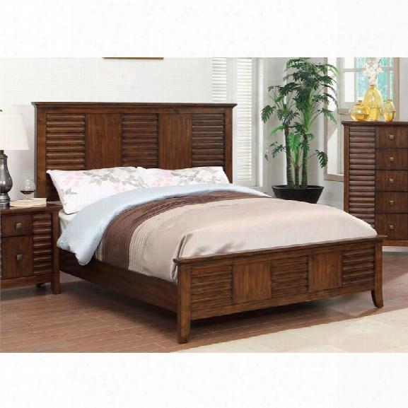 Furniture Of America Kyrin California King Panel Bed In Walnut