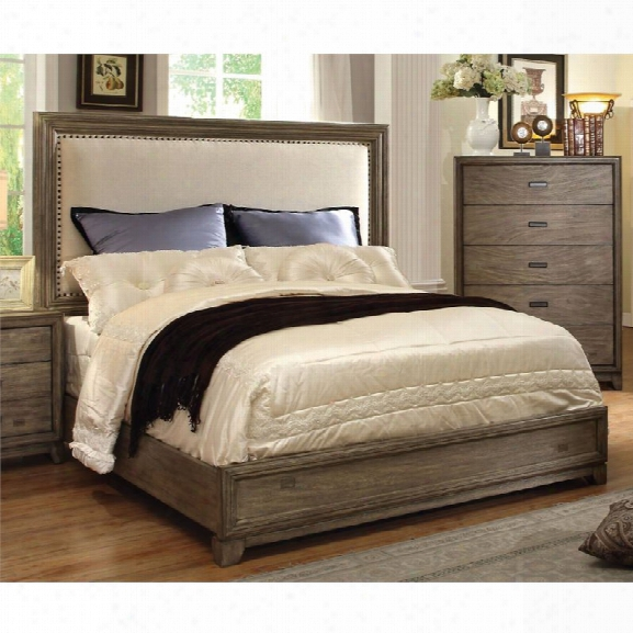 Furniture Of America Muttex California King Panel Bed In Natural Ash