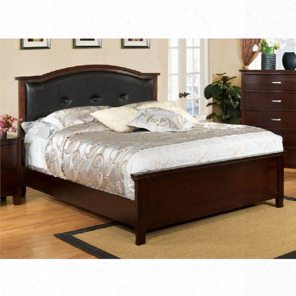 Furniture Of America Pruden King Panel Bed In Brown Cherry