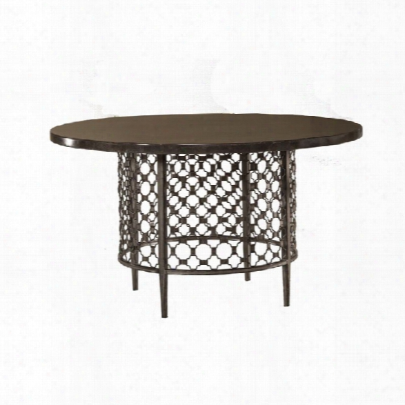 Hillsdale Brescello 54 Round Dining Table In Charcoal