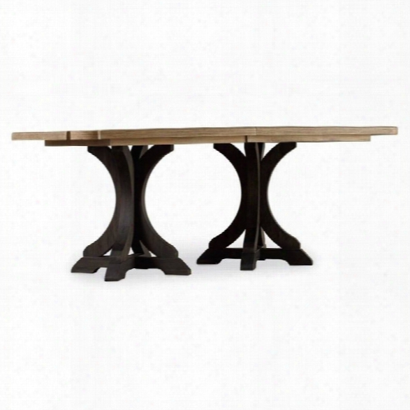 Hooker Furniture Corsica 79 Pedestal Dining Table With 2 Leaves