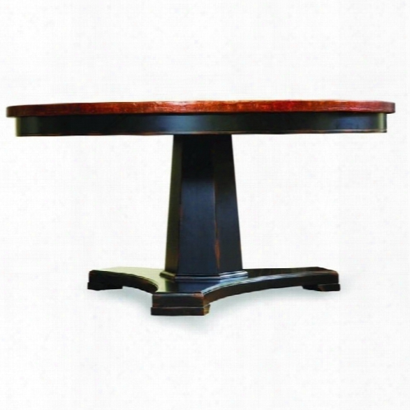 Hooker Furniture Sanctuary 48 Inch Copper Dining Table In Ebony