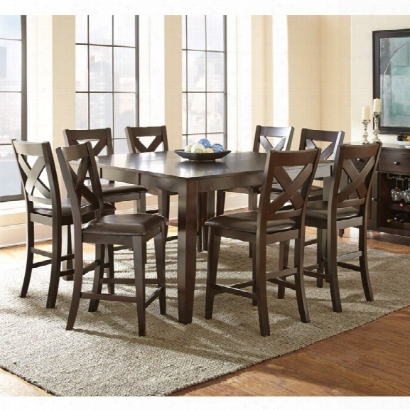Steve Silver Crosspointe Counter Height Dining Table With 18 Leaf
