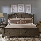 Liberty Furniture Modern Country King Poster Bed in Harvest Brown