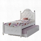 Picket House Furnishings Annie Twin Bed with Storage Trundle in White