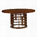 Tommy Bahama Island Fusion Meridian 60 Round Wood Dining Table