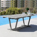 Vifah Renaissance Extendable Patio Dining Table in Natural