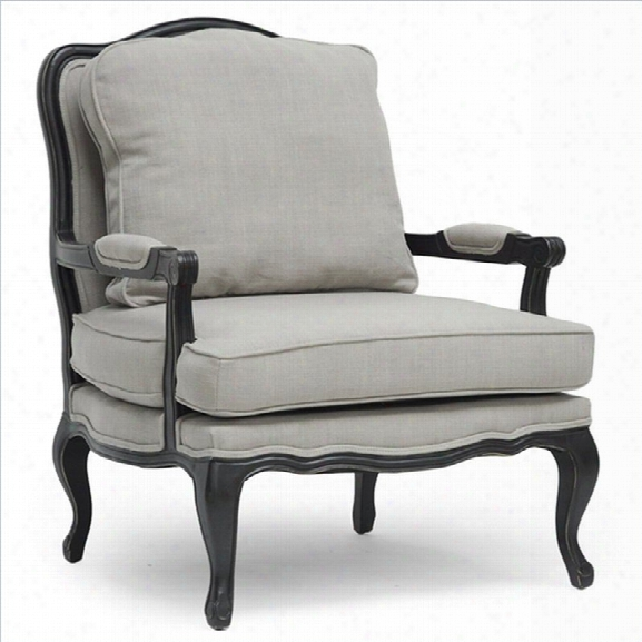 Baxton Studio Antoinette Classic Antique French Accent Chair In Beige