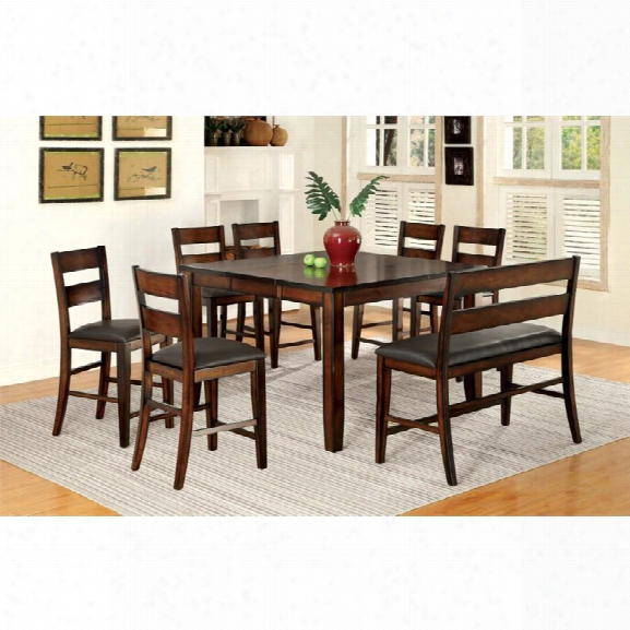 Furniture Of America Arlen 8 Piece Extendable Counter Dining Set