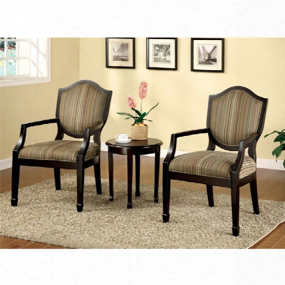 Furniture Of America Carly Ii 3 Piece Conversation Set In Espresso