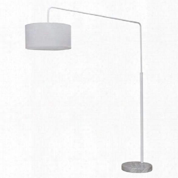 Nuevo Raku Adjustable Floor Lamp In White