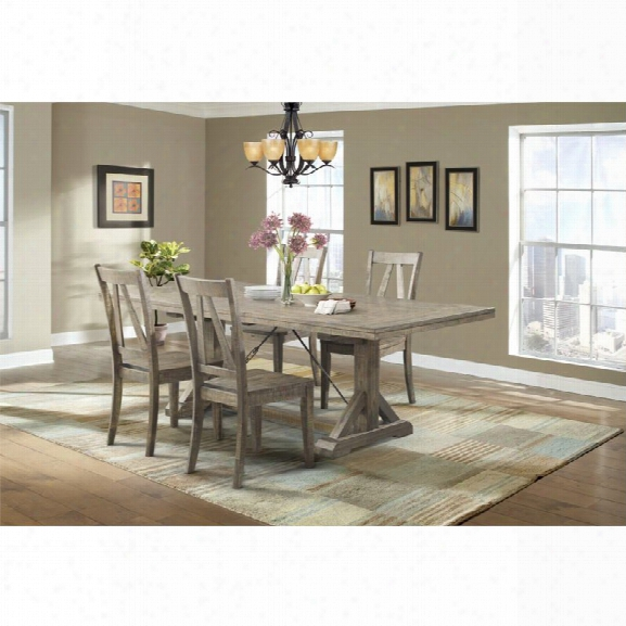 Picket House Furnishings Flynn 5 Piece Dining Set In Walnut