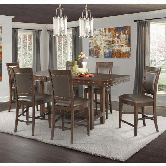 Picket House Furnishings Pruitt 7 Piece Counter Height Dining Set