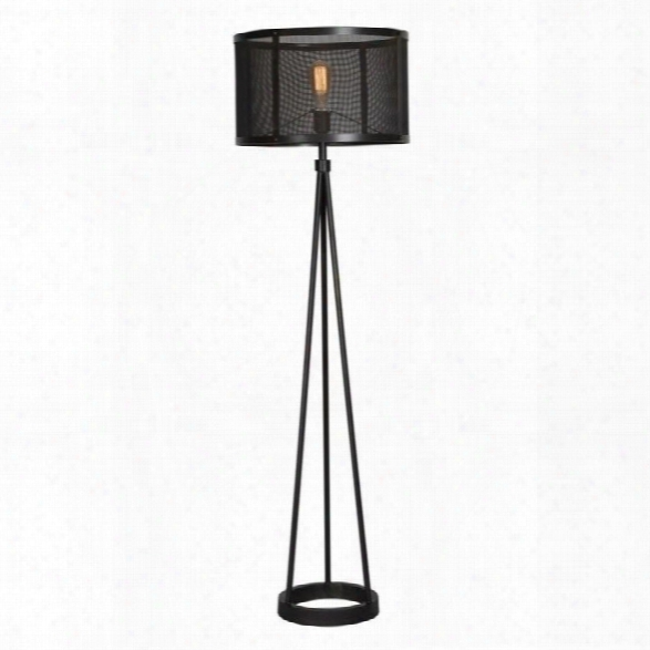 Renwil Livingstone Floor Lamp In Black