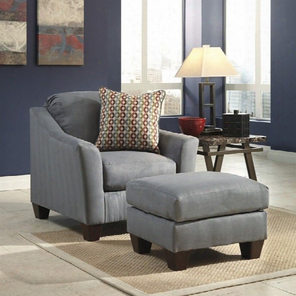 Signature Design By Ashley Furniture Hannin 2 Piece Chair Set In Lagoon