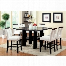 Furniture of America Jalen 9 Piece Counter Height LED Dining Set