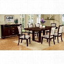 Furniture of America Steline 7 Piece Extendable Dining Set in Espresso