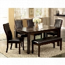 Furniture of America Stollings 6 Piece Counter Height Dining Set